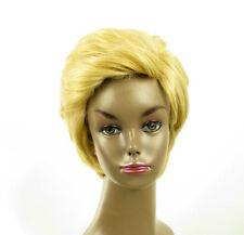 perruque afro femme 100% cheveux naturel courte blonde ref LAET 05/22