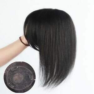 100% Human Hair Topper Cover Toupee Clip in Hairpiece Top Pieces For Hair Loss