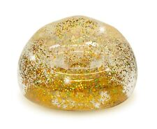 New Mainstays Kids Inflatable Glitter Chair Gold Holds Up To 250 Lbs.
