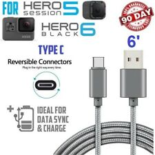 For GoPro Hero 5 Hero5 - 6FT LONG TYPE-C USB CABLE CHARGING POWER SYNC (Silver)