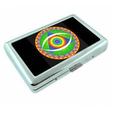Rainbow Triangle Symbol Em1 Silver Metal Cigarette Case RFID Protection Wallet