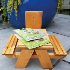 More details for wooden squirrel feeding table supplied with nuts and fixings