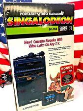 ��Retro Singalodeon Portable Stero Karaoke Model Sk-104 Double Cassette Players�