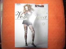 Cappucino Floral Fishnet Tights- SIze Small