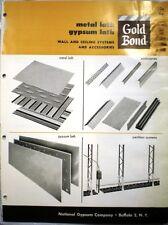 GOLD BOND National Gypsum Catalog VERMICULITE Column Fireproofing 1962 ASBESTOS