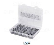 grau Schutzkappen für Schrauben Schraubenkappe Set Box Sortimentsbox Abdeckung