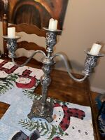 Antique Rogers & Son 3 arm silver Plated Candelabra
