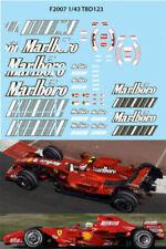 1/43 FERRARI F1 F2007 F 2007 SPONSOR RAIKKONEN MASSA DECALS TB DECAL TBD123