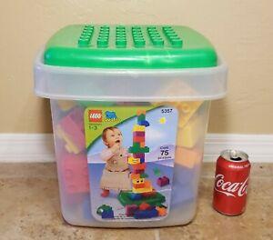 Lego QUATRO 5357 Bricks Set w/ Bin & top 78 Pieces Age 1-3 Toddler