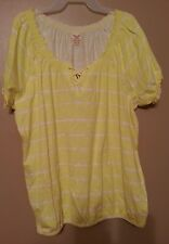 WOMEN'S FADED GLORY  PEASANT  SHIRT SIZE M(8-10) NWT