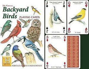 Backyard Birds set of 52 playing cards + jokers (hpc) **DAMAGED SO REDUCED**