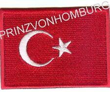 Türkei Flagge Aufnäher Biker Colour  Patches Embleme Turkey  8 x 6 cm