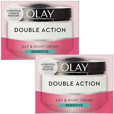 2 Olay Double Action Day & Night Moisturiser Cream Sensitive Hydrating Care 50ml