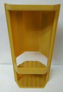 Vintage 1978 Rubbermaid Bath & Shower Caddy Harvest Gold Soap Tray Dish