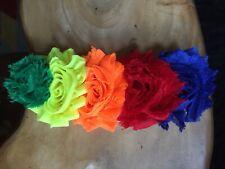 Huge Rainbow Roses Shabby Chic Hair Clip Fascinator NEW