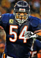 Brian Urlacher Limited Edition Art Card 1 of 49  ACEO Chicago Bears