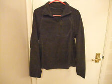 MENS SMALL GREY FLEECE TOP WITH ZIP COLLAR & POCKET