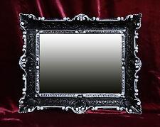 Wall Mirror Black White Baroque Reproduction Bathroom Vanity 56x46 2