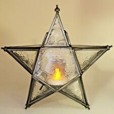 Moroccan Style Lantern Iron Hanging Star Antique Tea Light Candle Holder 40112
