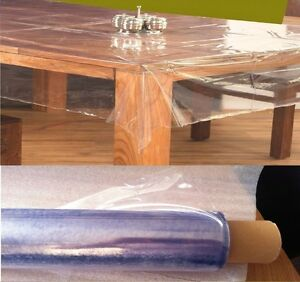 STRONG CLEAR TABLE CLOTH COVER WIPEABLE PLASTIC PVC WATERPROOF TABLE PROTECTOR