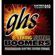 GHS Strings GBTNT-8 Boomers 8-String Thin/Thick Electric Guitar Strings (10-80)