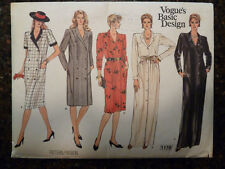 Vogue 1178 Vogue's Basic Design Coat Dress Original 1980's Pattern size 14 Cut