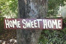 HOME SWEET HOME COUNTRY WOOD RUSTIC PRIMITIVE SHABBY CHIC HOUSE SIGN PLAQUE