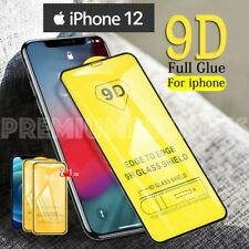 2 Pellicola Vetro Temperato per iPhone 12 PRO 12 MINI MAX 9D Copertura TOTALE