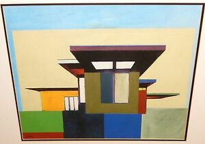 """M.DRAKE """"FORMS IN MODERN ARCHITECTURE I"""" LIMITED EDITION SIGNED LITHOGRAPH"""