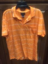 Orange Mens Pullover Polo Rugby Sz L