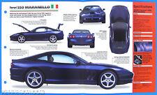 Ferrari 550 Maranello Italy 1996-1998 Spec Sheet Brochure IMP Hot Cars 1 #25
