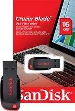 16GB SanDisk Cruzer Blade CZ50 USB 2.0 Flash Drive SDCZ50-016G Retail package