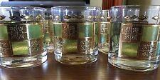 CULVER 22 KT GOLD TRIM PRADO PATTERN JUICE WHISKEY GLASSES LOT OF 6