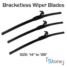 3PC FOR JEEP GRAND CHEROKEE 1999-2006 BRACKETLESS WINDSHIELD WIPER BLADES WIPERS
