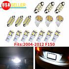 16PCS White LED Bulb Interior Lights Package Kit For 2004-2011 2012 Ford F150