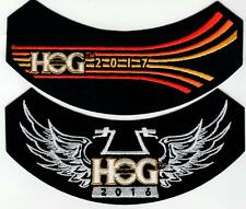 2016 & 2017 HOG Member Rocker Patches HARLEY DAVIDSON OWNERS GROUP HD MC Life