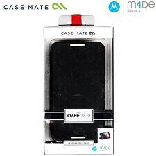 New Case-Mate Motorola Nexus 6 Stand folio Cover Case Black + Screen Protector !