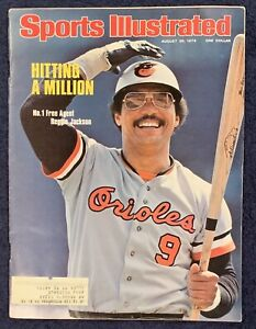 8.30.1976 REGGIE JACKSON Sports Illustrated BALTIMORE ORIOLES - Chris Evert