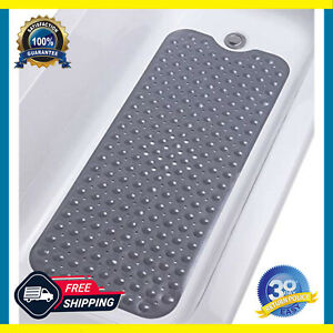 Non-Slip Bathtub And Shower Mat, Vinyl, Superior Grip and Drainage, Smooth Tubs