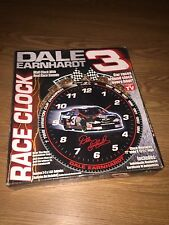 Dale Earnhardt Sr. #3 Wall RACE CLOCK with Real RACING SOUNDS in BOX As Seen TV