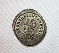 CARINUS, AE ANTONINIANUS, ROME 283-285 AD. CARINUS REVERSE. ORIGINAL SILVERING.