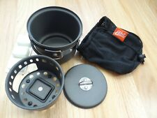 New Unused Esbit Backpacking Camping Set Fuel Stove & Pot With Lid