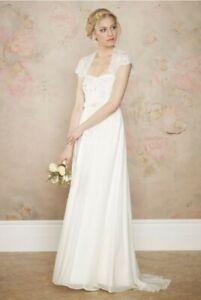 Brand New Stunning Monsoon Rosella Wedding Dress With Lace Bolero Size 16
