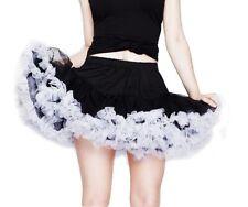Black Purple White Underskirt Tutu Hellbunny L-XXL