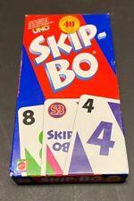 Mattel Uno Skip Bo Celebrating 40 years Card Game