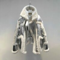 Warm Winter Jacket Ladies Fur Sweater Thick Coat Fashion Outdoor Clothes Lovely