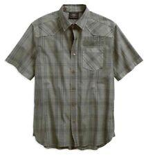 Harley-Davidson® Men's Over-Dyed Plaid Short Sleeve Woven Shirt 96540-19VM