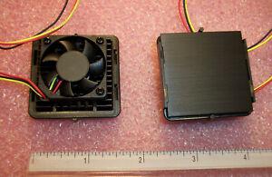 QTY (2) KDE0503PEV1-8 SUNON 30mm SQ 5V FANS WITH HEATSINK