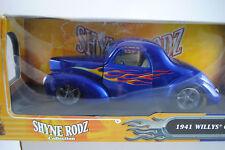 1:18 Routes légendes Shyne RODZ 1941 Willys coupé bleu rare -