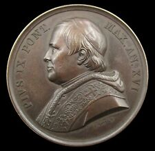 More details for italy 1861 papal states pope pius ix 43mm medal - by voigt